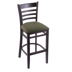 "3140 25"" Stool with Black Finish, Axis Grove Seat"