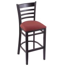 "3140 30"" Stool with Black Finish, Axis Paprika Seat"
