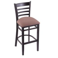"Holland Bar Stool Co. 3140  25"" Stool with Black Finish, Axis Willow Seat"