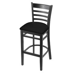 "Holland Bar Stool Co. 3140  30"" Stool with Black Finish, Black Vinyl Seat"