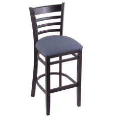 "Holland Bar Stool Co. 3140  25"" Stool with Black Finish, Rein Bay Seat"