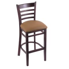 "3140 25"" Stool with Dark Cherry Finish, Allante Beechwood Seat"