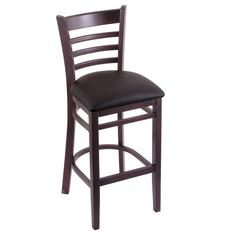 "Holland Bar Stool Co. 3140  30"" Stool with Dark Cherry Finish, Allante Espresso Seat"