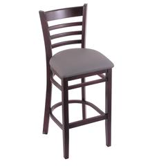"Holland Bar Stool Co. 3140  30"" Stool with Dark Cherry Finish, Allante Medium Grey Seat"