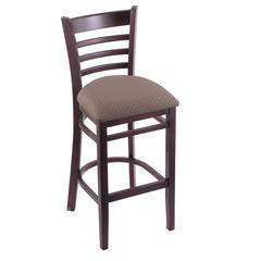 "Holland Bar Stool Co. 3140  25"" Stool with Dark Cherry Finish, Axis Truffle Seat"