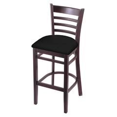 "3140 25"" Stool with Dark Cherry Finish, Black Vinyl Seat"