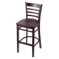 "3140 30"" Stool with Dark Cherry Finish, Dark Cherry Seat"