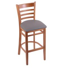 "3140 25"" Stool with Medium Finish, Allante Medium Grey Seat"