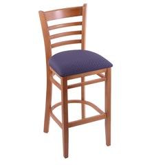 "Holland Bar Stool Co. 3140  25"" Stool with Medium Finish, Axis Denim Seat"