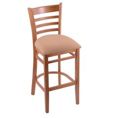 "3140 25"" Stool with Medium Finish, Axis Summer Seat"