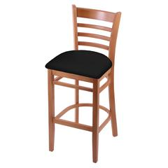 "Holland Bar Stool Co. 3140  25"" Stool with Medium Finish, Black Vinyl Seat"