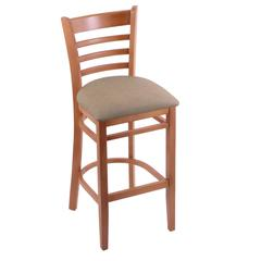 "Holland Bar Stool Co. 3140  25"" Stool with Medium Finish, Rein Thatch Seat"
