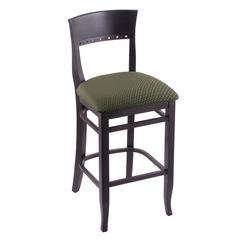 "Holland Bar Stool Co. 3160  25"" Stool with Black Finish, Axis Grove Seat"
