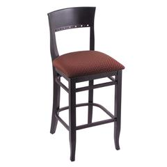 "Holland Bar Stool Co. 3160  25"" Stool with Black Finish, Axis Paprika Seat"
