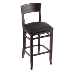 "3160 25"" Stool with Dark Cherry Finish, Allante Espresso Seat"