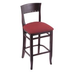 "Holland Bar Stool Co. 3160  25"" Stool with Dark Cherry Finish, Allante Wine Seat"