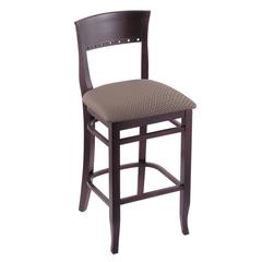 "3160 25"" Stool with Dark Cherry Finish, Axis Truffle Seat"