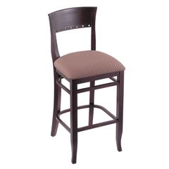 "3160 30"" Stool with Dark Cherry Finish, Axis Willow Seat"
