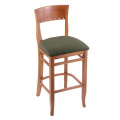 "3160 25"" Stool with Medium Finish, Axis Grove Seat"