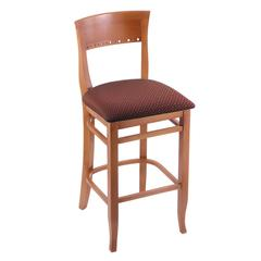 "3160 30"" Stool with Medium Finish, Axis Paprika Seat"