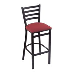 "400 Jackie 25"" Stool with Black Wrinkle Finish, Allante Wine Seat"