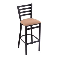 "Holland Bar Stool Co. 400 Jackie 25"" Stool with Black Wrinkle Finish, Axis Summer Seat"