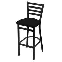 "Holland Bar Stool Co. 400 Jackie 25"" Stool with Black Wrinkle Finish, Black Vinyl Seat"