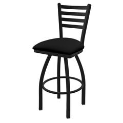 "410 Jackie 25"" Counter Stool with Black Wrinkle Finish, Black Vinyl Seat, and 360 swivel"