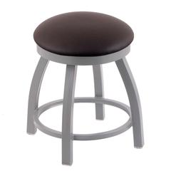 "Holland Bar Stool Co. 802 Misha 18"" Vanity Stool with Anodized Nickel Finish, Allante Espresso Seat, and 360 Swivel"