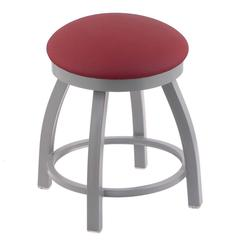 "802 Misha 18"" Vanity Stool with Anodized Nickel Finish, Allante Wine Seat, and 360 Swivel"