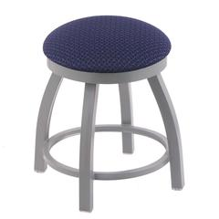 "802 Misha 18"" Vanity Stool with Anodized Nickel Finish, Axis Denim Seat, and 360 Swivel"