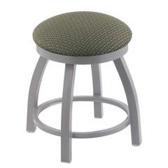 "Holland Bar Stool Co. 802 Misha 18"" Vanity Stool with Anodized Nickel Finish, Axis Grove Seat, and 360 Swivel"