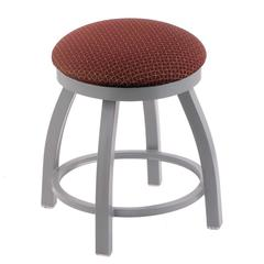 "802 Misha 18"" Vanity Stool with Anodized Nickel Finish, Axis Paprika Seat, and 360 Swivel"
