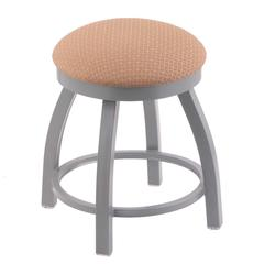 "802 Misha 18"" Vanity Stool with Anodized Nickel Finish, Axis Summer Seat, and 360 Swivel"