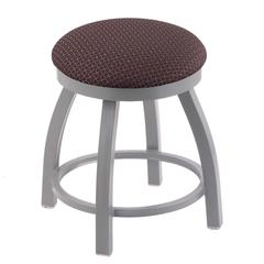 "802 Misha 18"" Vanity Stool with Anodized Nickel Finish, Axis Truffle Seat, and 360 Swivel"