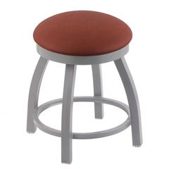 "Holland Bar Stool Co. 802 Misha 18"" Vanity Stool with Anodized Nickel Finish, Rein Adobe Seat, and 360 Swivel"