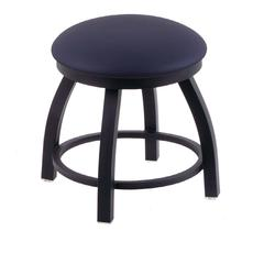 "802 Misha 18"" Vanity Stool with Black Wrinkle Finish, Allante Dark Blue Seat, and 360 Swivel"
