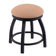 "Holland Bar Stool Co. 802 Misha 18"" Vanity Stool with Black Wrinkle Finish, Axis Summer Seat, and 360 Swivel"