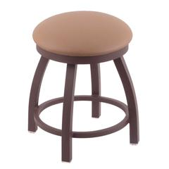 "802 Misha 18"" Vanity Stool with Bronze Finish, Allante Beechwood Seat, and 360 Swivel"