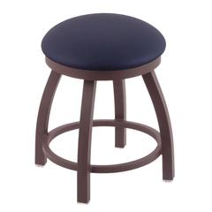 "Holland Bar Stool Co. 802 Misha 18"" Vanity Stool with Bronze Finish, Allante Dark Blue Seat, and 360 Swivel"