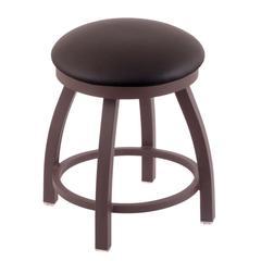 "802 Misha 18"" Vanity Stool with Bronze Finish, Allante Espresso Seat, and 360 Swivel"