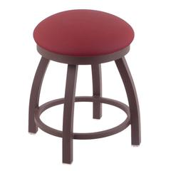 "Holland Bar Stool Co. 802 Misha 18"" Vanity Stool with Bronze Finish, Allante Wine Seat, and 360 Swivel"