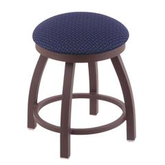 "802 Misha 18"" Vanity Stool with Bronze Finish, Axis Denim Seat, and 360 Swivel"