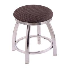 "802 Misha 18"" Vanity Stool with Chrome Finish, Axis Truffle Seat, and 360 Swivel"