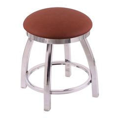 "802 Misha 18"" Vanity Stool with Chrome Finish, Rein Adobe Seat, and 360 Swivel"
