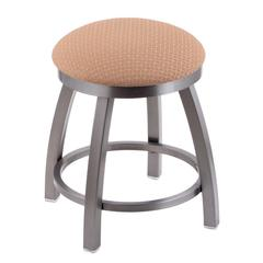 "Holland Bar Stool Co. 802 Misha 18"" Vanity Stool with Stainless Finish, Axis Summer Seat, and 360 Swivel"