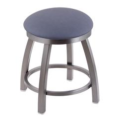"Holland Bar Stool Co. 802 Misha 18"" Vanity Stool with Stainless Finish, Rein Bay Seat, and 360 Swivel"