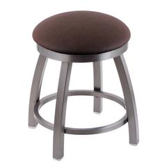 "Holland Bar Stool Co. 802 Misha 18"" Vanity Stool with Stainless Finish, Rein Coffee Seat, and 360 Swivel"