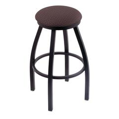 "802 Misha 36"" Bar Stool with Black Wrinkle Finish, Axis Truffle Seat, and 360 swivel"