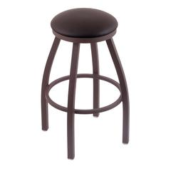 "Holland Bar Stool Co. 802 Misha 36"" Bar Stool with Bronze Finish, Allante Espresso Seat, and 360 swivel"